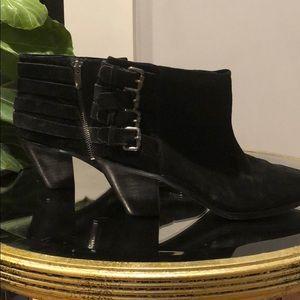 Sam Edelman Black Suede Boots 6.5